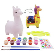 veZve Paint DIY Toy Craft Kit for Kids 4 to 8 Years Old Girls Boys Money Bank, Alpaca Figure