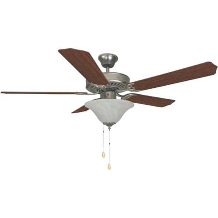 Bala 52  Dual Mount Ceiling Fan With Bowl Light Kit  Brushed Pewter