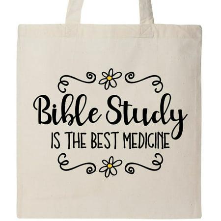 Inktastic Bible Study Best Medicine Tote Bag Christian Jesus Godly Woman Faith