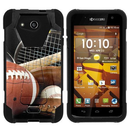 Athletic Kids Shell (TurtleArmor ® | For Kyocera Hydro Wave | Kyocera Hydro Air [Dynamic Shell] Dual Layer Hybrid Silicone Hard Shell Kickstand Case - Athletic)