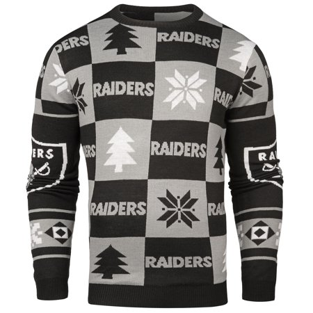 newest a12fe 03f31 Oakland Raiders NFL Forever Collectibles Black & Gray Knit ...