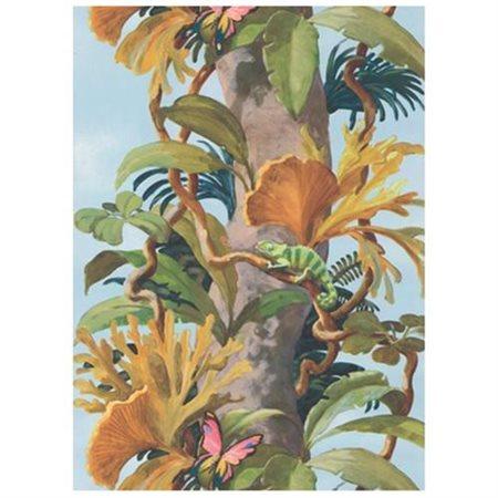 York Wallcoverings York Kids IV Jungle Tree Trunk 9' x 1.5'' Wildlife Border Wallpaper
