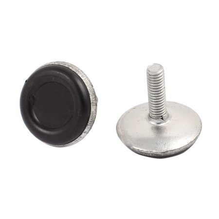 M6x17mm Plastic Base Adjustable Leveling Glide Foot 20pcs for Cabinet Table Leg - image 1 of 2