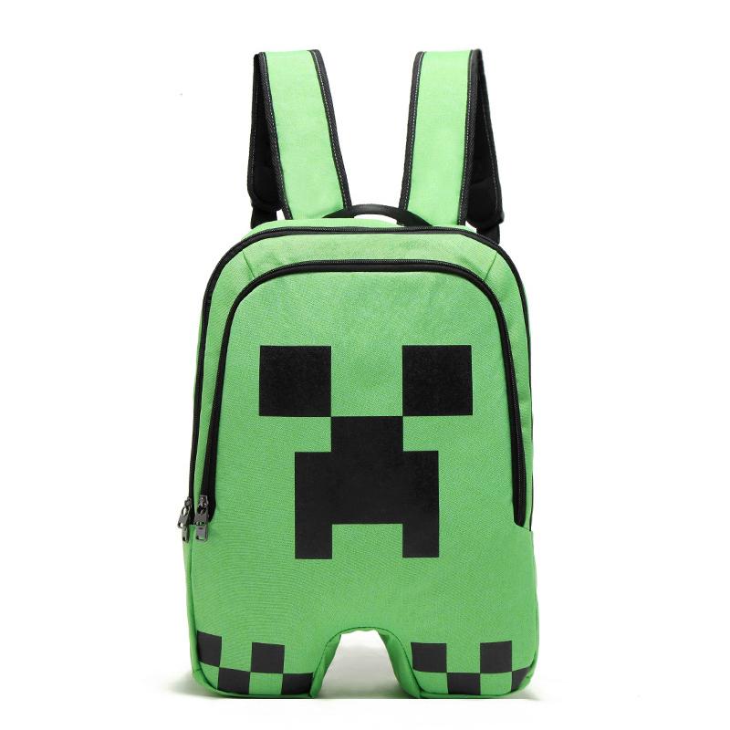 Minecraft School Backpack Creeper Rucksack Waterproof Boy Sports Storage Bag by