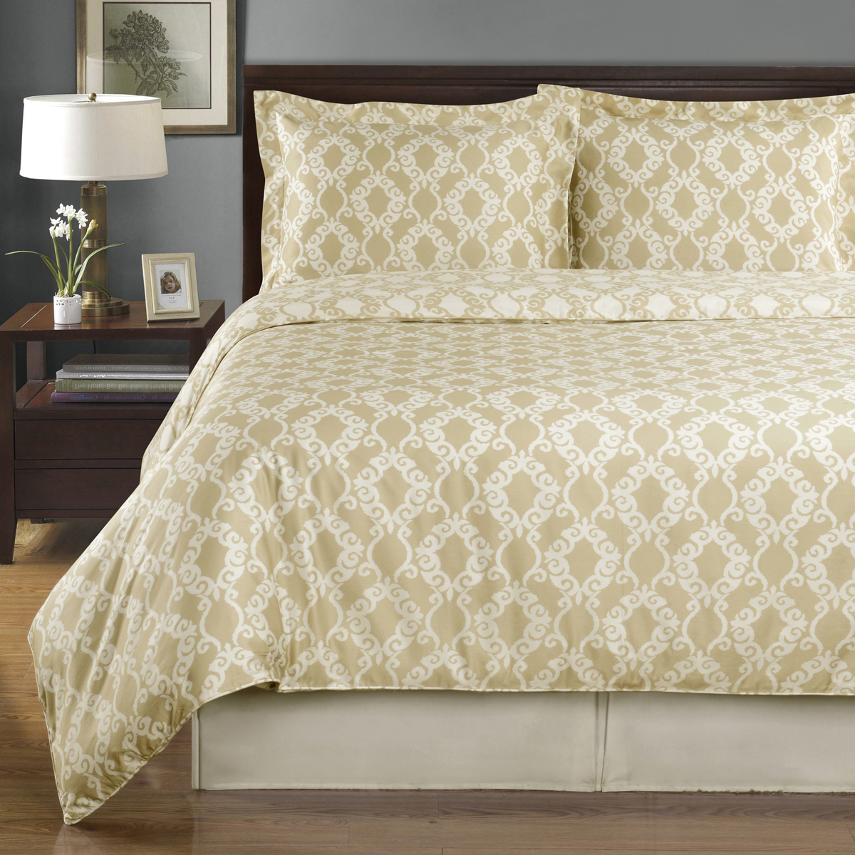 Sierra Silky Soft 100-Percent Cotton Reversible Duvet Cover Set Smooth & Soft Appearance- 3 Sizes