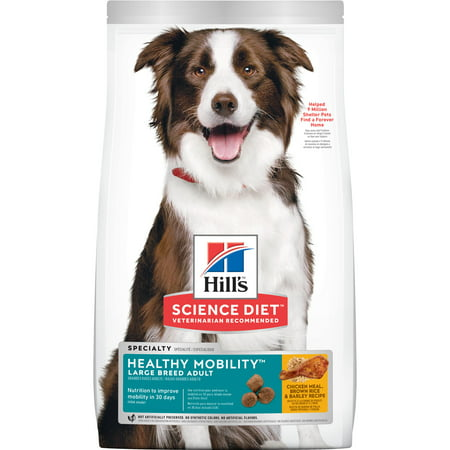 Hill's Science Diet Adult Healthy Mobility Large Breed Chicken Meal, Brown Rice & Barley Recipe Dry Dog Food, 30 lb bag