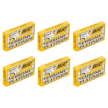 Bic Chrome Platinum Double Edge Safety Razor Blades 30 Count