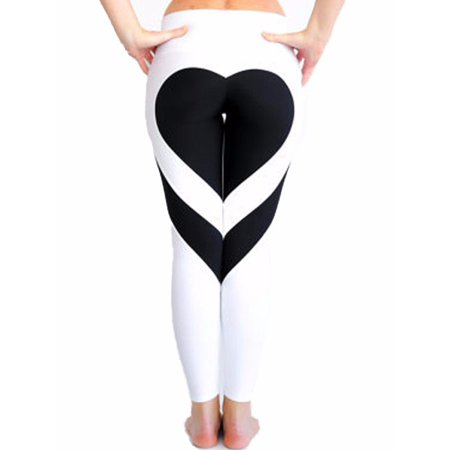 0a1121110f8ca FITTOO - FITTOO Activewear Women's Workout Leggings Mesh Splicing Yoga  Sport Pants Heart Shape Butt White&Black,XL - Walmart.com