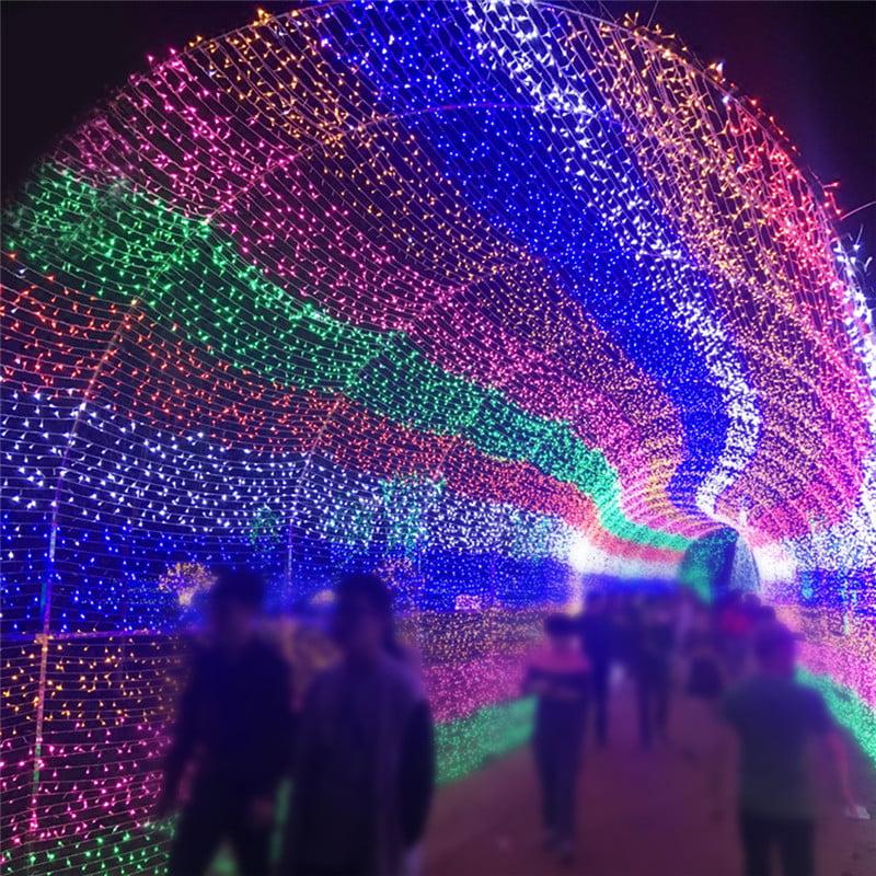 YOSOO 210 LED Mesh Net Light Curtain String Light Wedding Christmas Party Decor Colorful