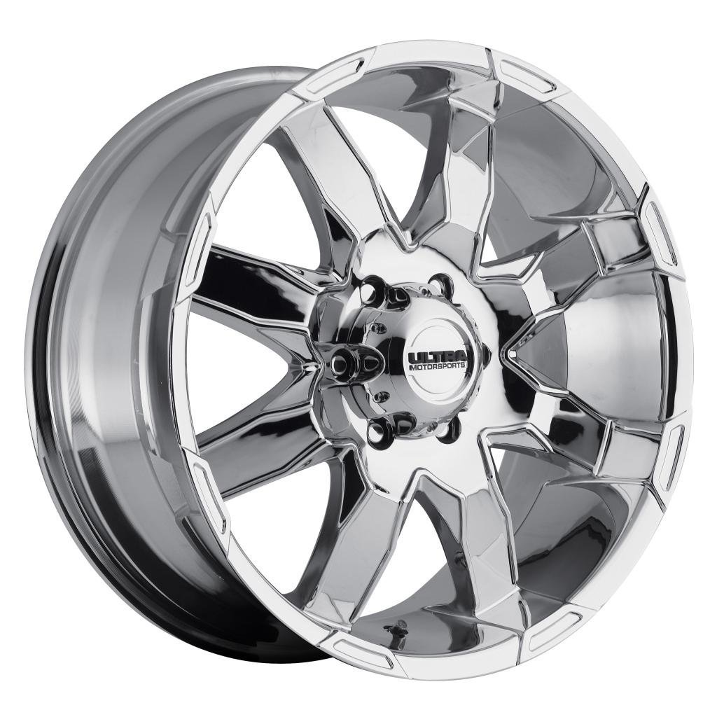 Ultra Phantom 16 Chrome Wheel / Rim 6x5.5 with a 10mm Offset and a 106 Hub Bore. Partnumber 225-6883C+10