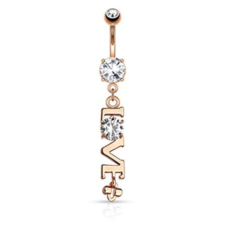 Bodyj4you Love Logo Belly Button Ring