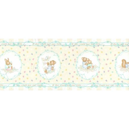 Baby Animal Nursery Wallpaper Border 10 Yards