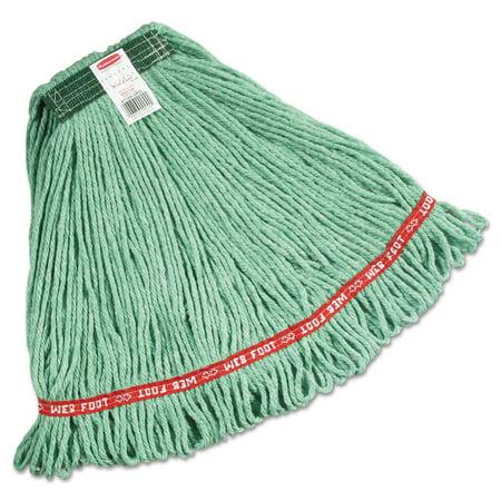 Web Foot Wet Mops, Cotton/synthetic, Green, Medium, 1-In Green Headband