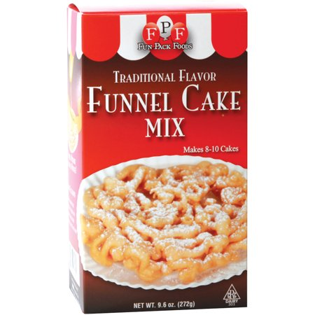 (2 Pack) Fun Pack Foods Traditional Flavor Funnel Cake Mix, 9.6 oz ()