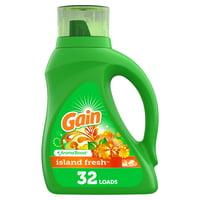 Gain Island Fresh He, 32 Loads Liquid Laundry Detergent, 50 fl oz