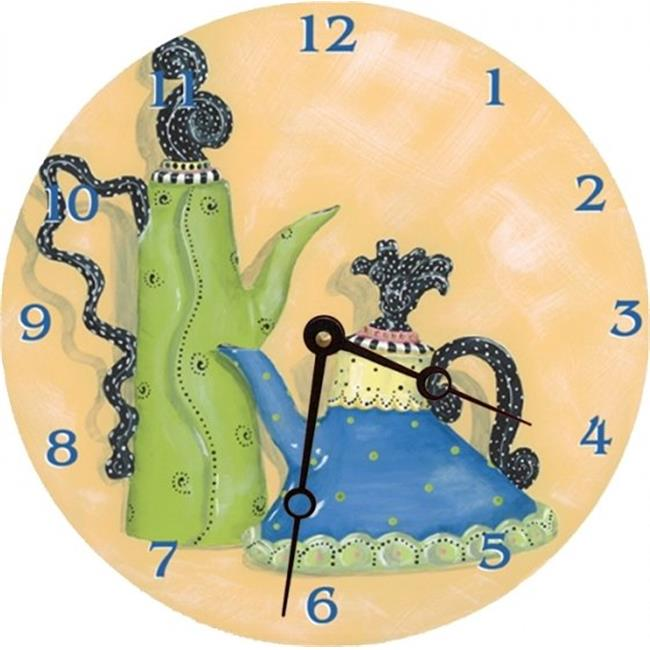 Lexington Studios 23053R Whimsical Teapots Round Clock by Lexington Studios