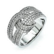Sterling Silver & CZ Polished Ring