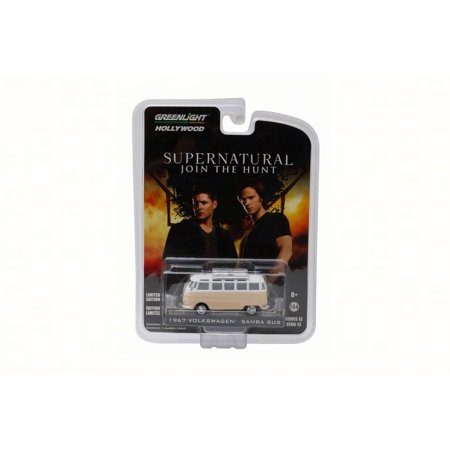 Supernatural Rainbow Motors 1964 Volkswagen Samba Bus, Peach - Greenlight 44730 - 1/64 Scale Diecast Toy Car