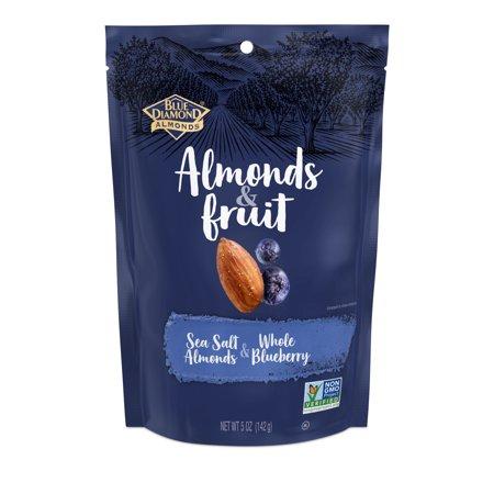Almonds & Fruit, Sea Salt Almonds & Whole Blueberry - Fruit Of The Sea