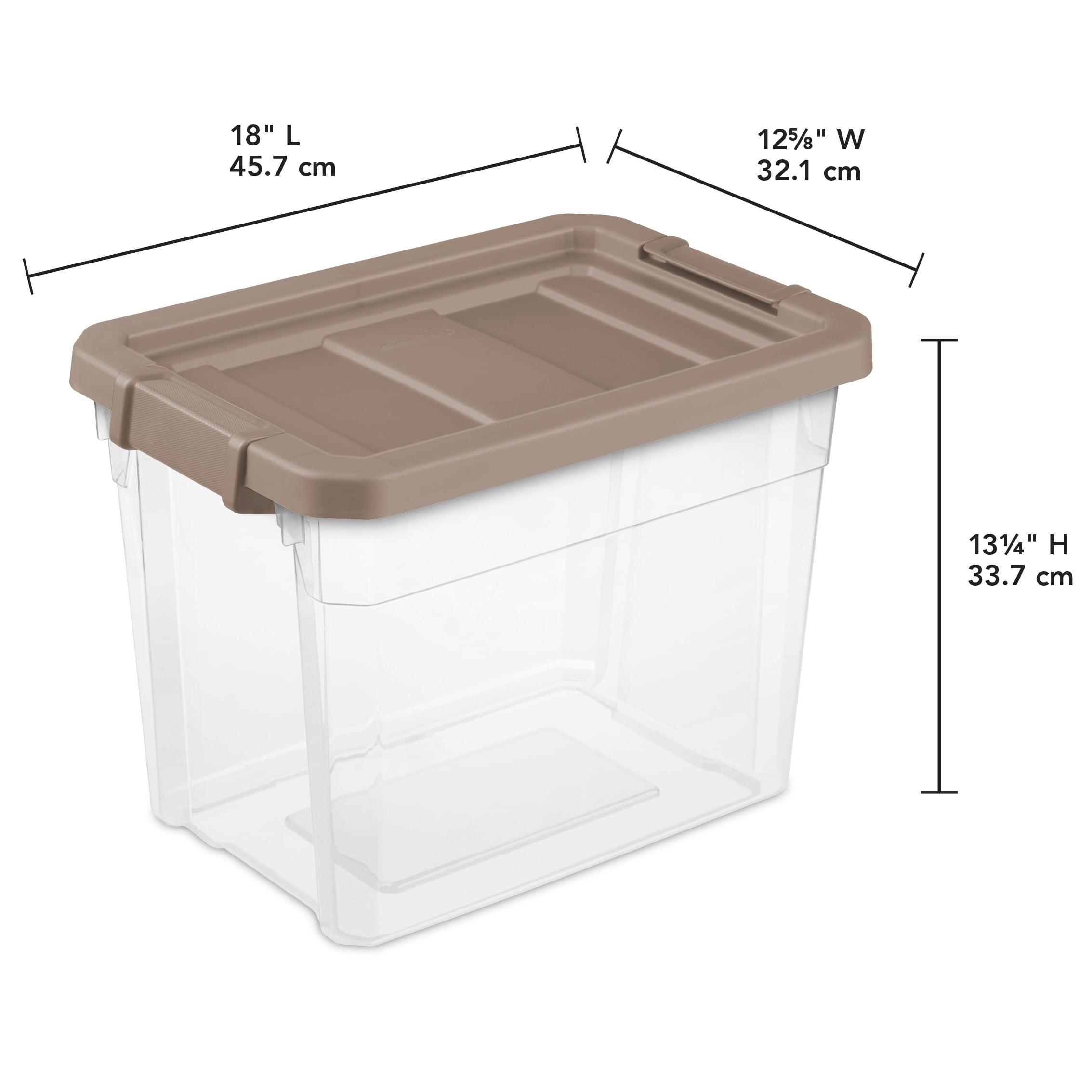 Sterilite, 30 Qt /28 L Stacker Box, Taupe Splash