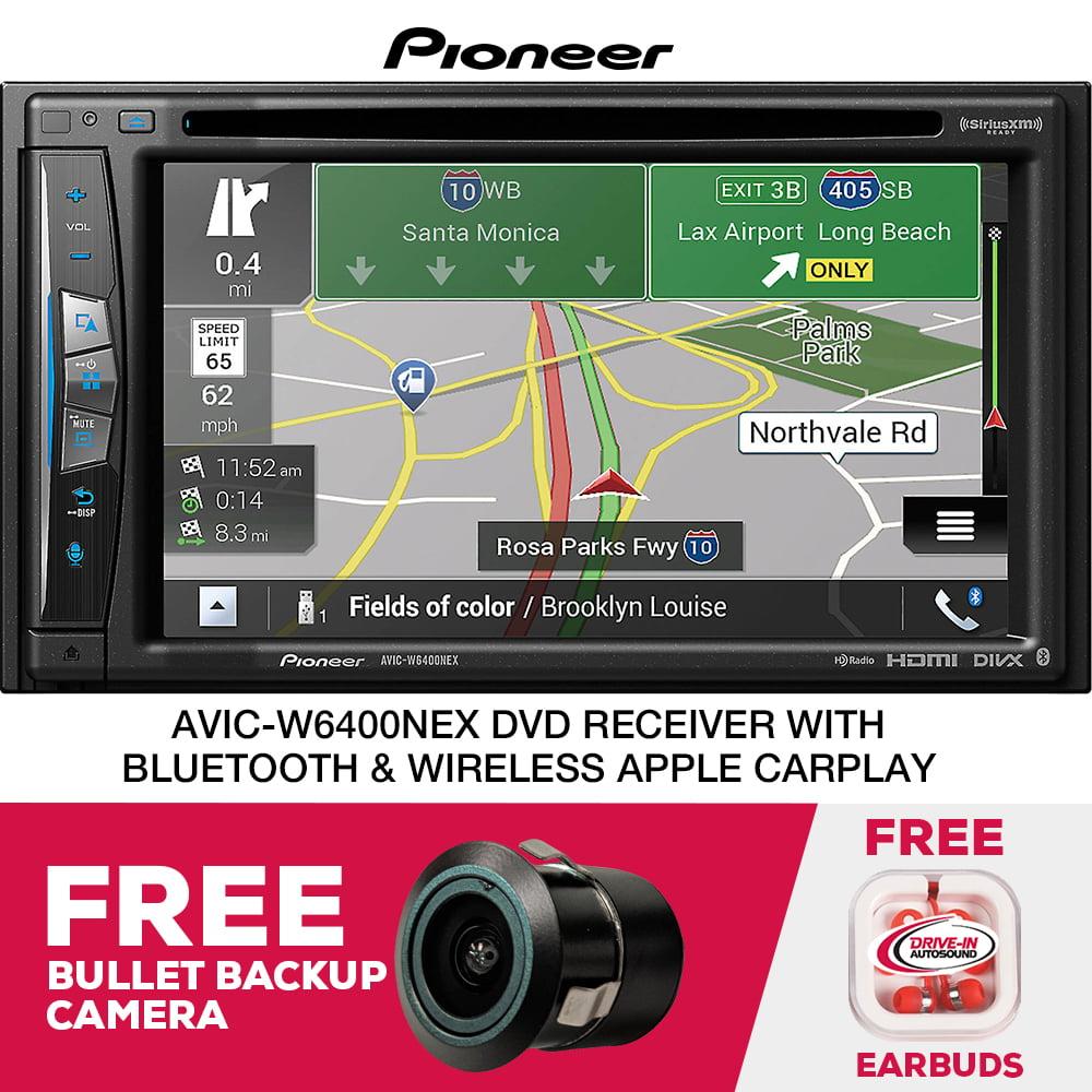 Pioneer AVIC-W6400NEX Nav. Receiver Wireless CarPlay & Free Bullet Backup Camera PLUS $100 Mail-In Rebate by Pioneer
