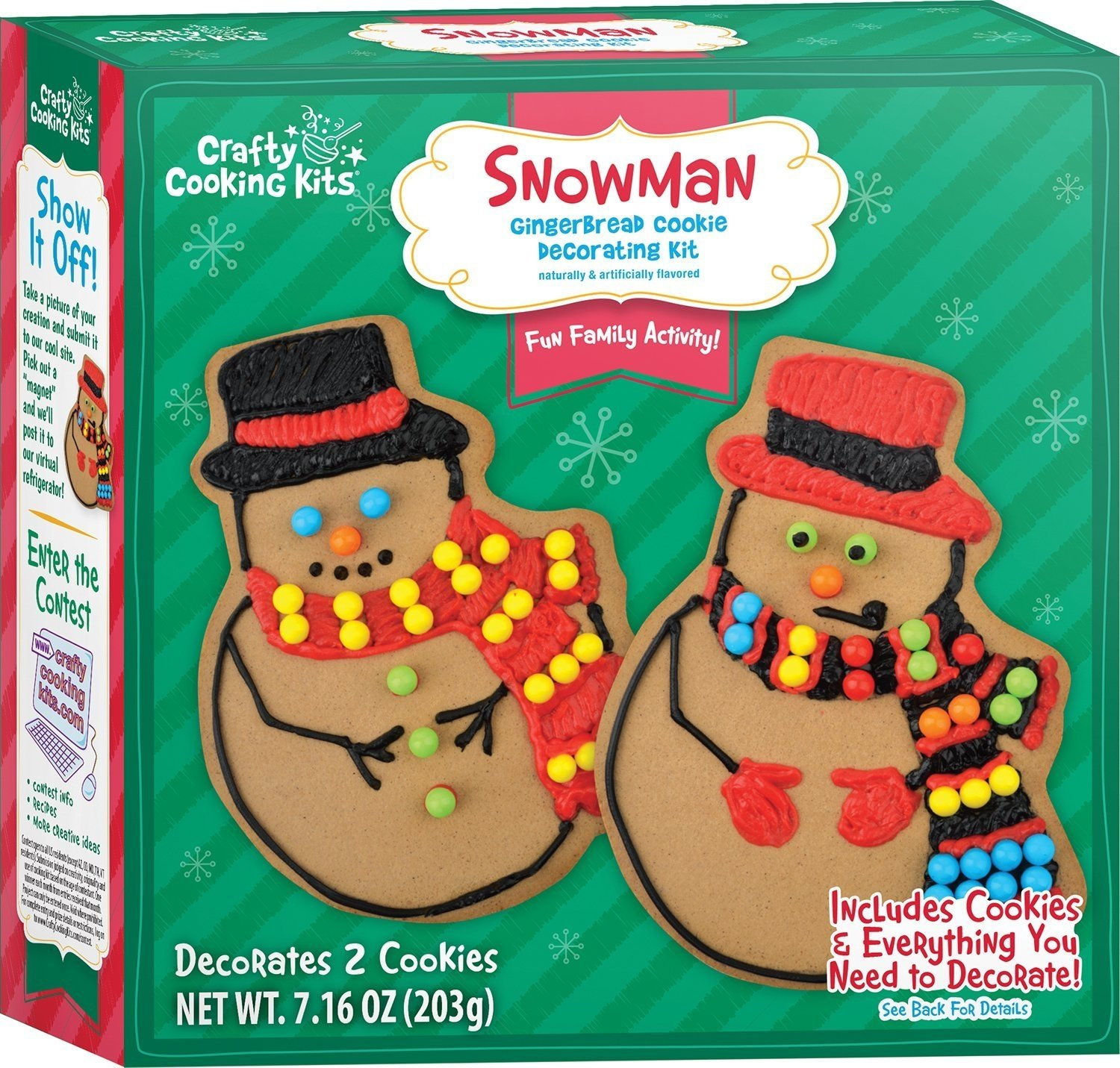 Crafty Cooking Kits Snowman Gingerbread Cookie Decorating, 7.16 Ounce