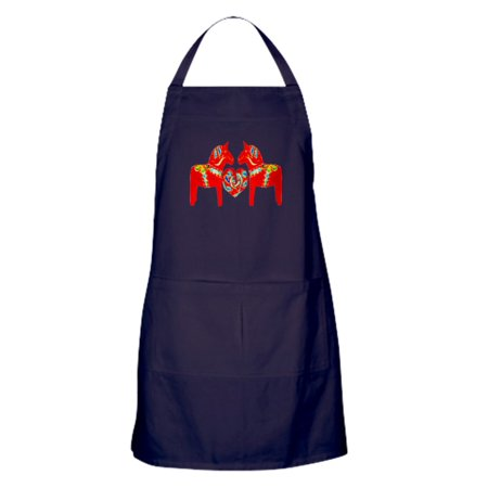 - CafePress - Swedish Dala Horses - Kitchen Apron with Pockets, Grilling Apron, Baking Apron