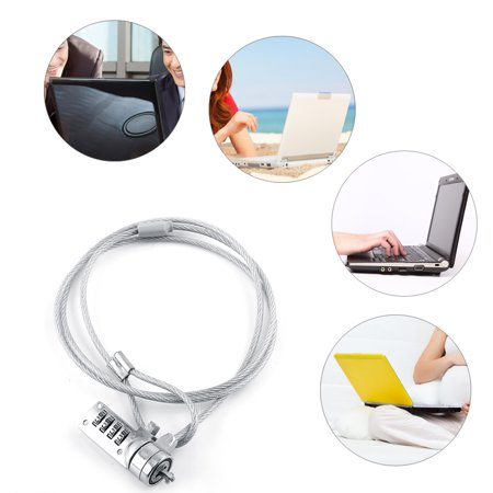 Lock Cable,HURRISE Laptop Combination Security Lock Cable Chain Theft Deterrent 4 Digit Password For Notebook -