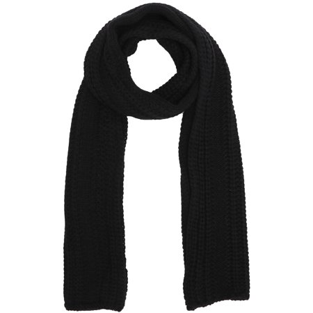 - Soft Handmade Knit Winter Long Scarf Neck Warmer for Men,Black