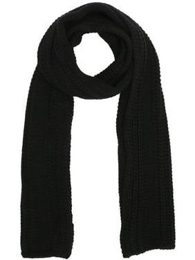 Soft Handmade Knit Winter Long Scarf Neck Warmer for Men,Black