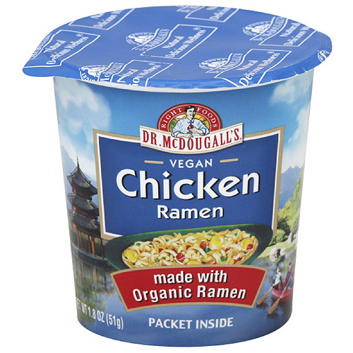 Dr. McDougall's Right Foods Ramen Chicken Soup, 1.8 oz, (Pack of 6)