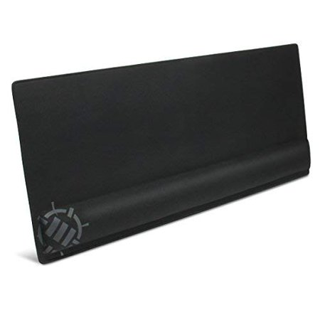 ENHANCE Large Extended Gaming Mouse Pad with Memory Foam Wrist Rest Support (31.5 x 13.78 x 1 inches) - Anti-Fray Stitching & Premium Soft Tracking Mat Surface (Memory Foam Mouse Wrist Pad)