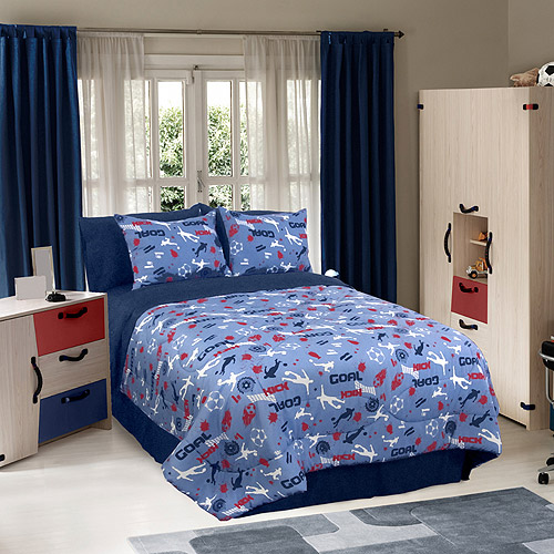 Soccer Locker Bedding Comforter Set