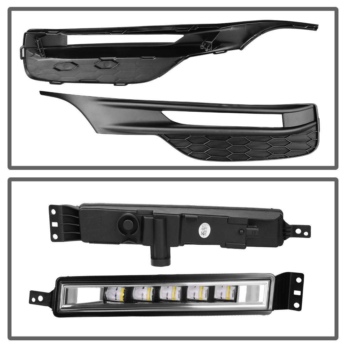 4-Door Sedan,Clear Lens with Wiring Kit and Lamp Bracket AUTOSAVER88 Fog Lights LED SMD Lamp for 2016 2017 Honda Accord