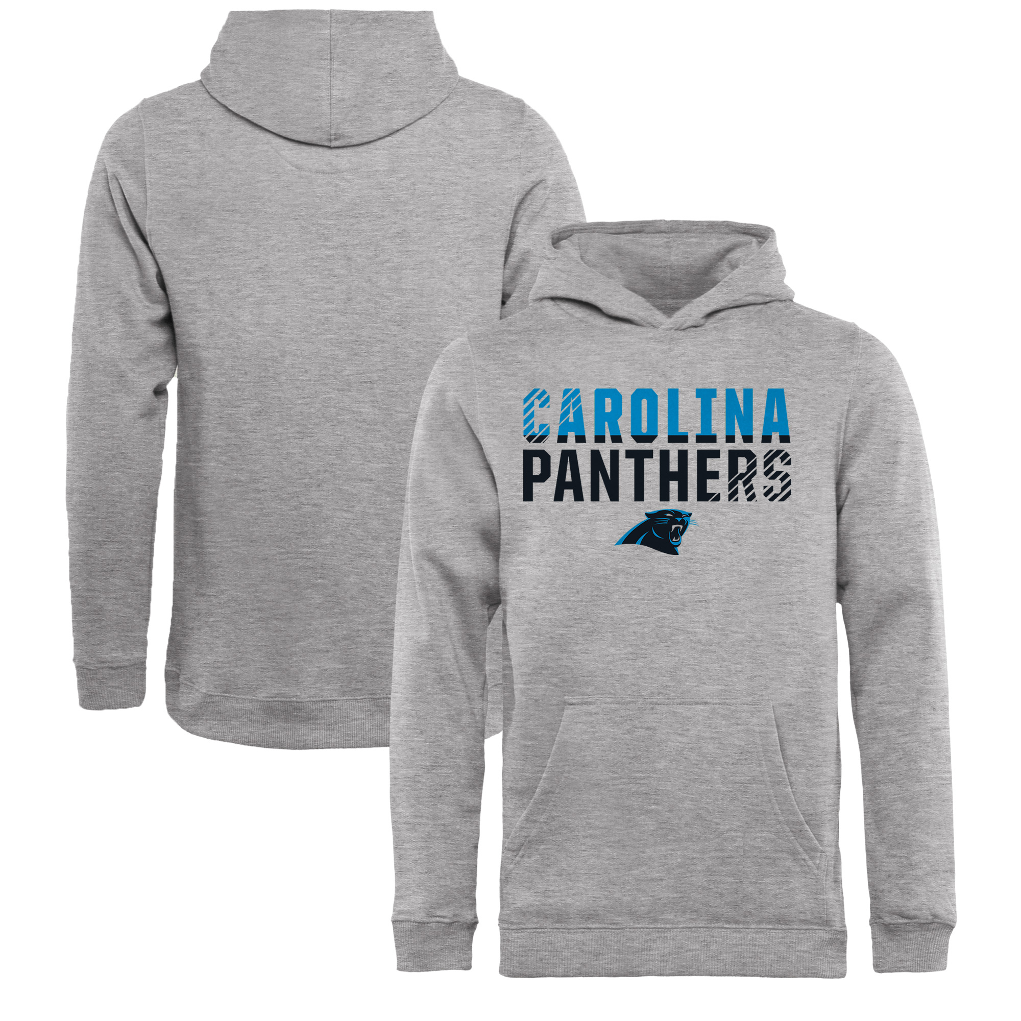 Carolina Panthers NFL Pro Line by Fanatics Branded Youth Iconic Collection Fade Out Pullover Hoodie - Ash