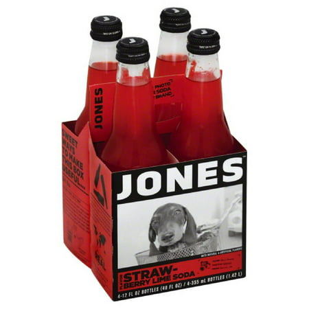 Jones Strawberry Lime Flavor Soda, 48 Fo (Pack of - Halloween Jones Soda