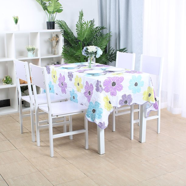Tablecloths Rectangle Printed Pvc Table, What Size Tablecloth For A 42 X 72 Table