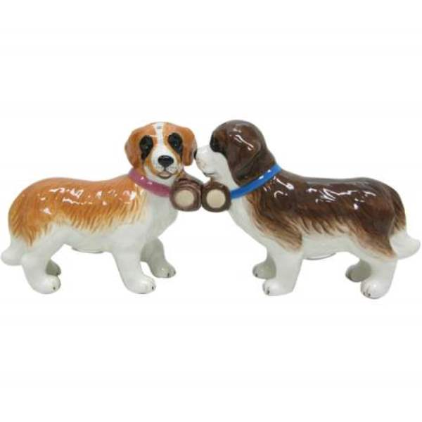 St Bernards Dogs Pups Salt And Pepper Shaker Walmart Com