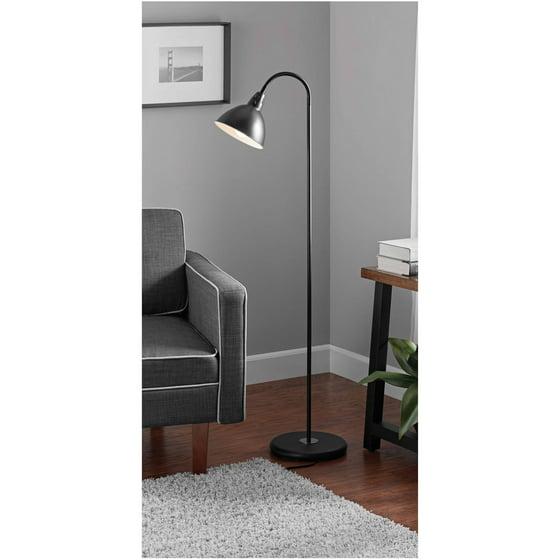 Mainstays Black Gooseneck Floor Lamp Walmart Com