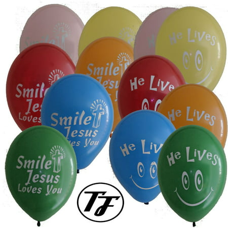 Religious Balloons - Truth Fanatic Jesus Themed Latex Balloons - Unique Double-Sided Vibrant Imprint - Christian Cross