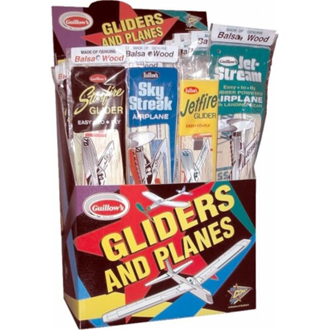 Paul K Guillow Inc 00077 Paul K Guillow Inc 00077 Gliders & Planes 48 Count Display