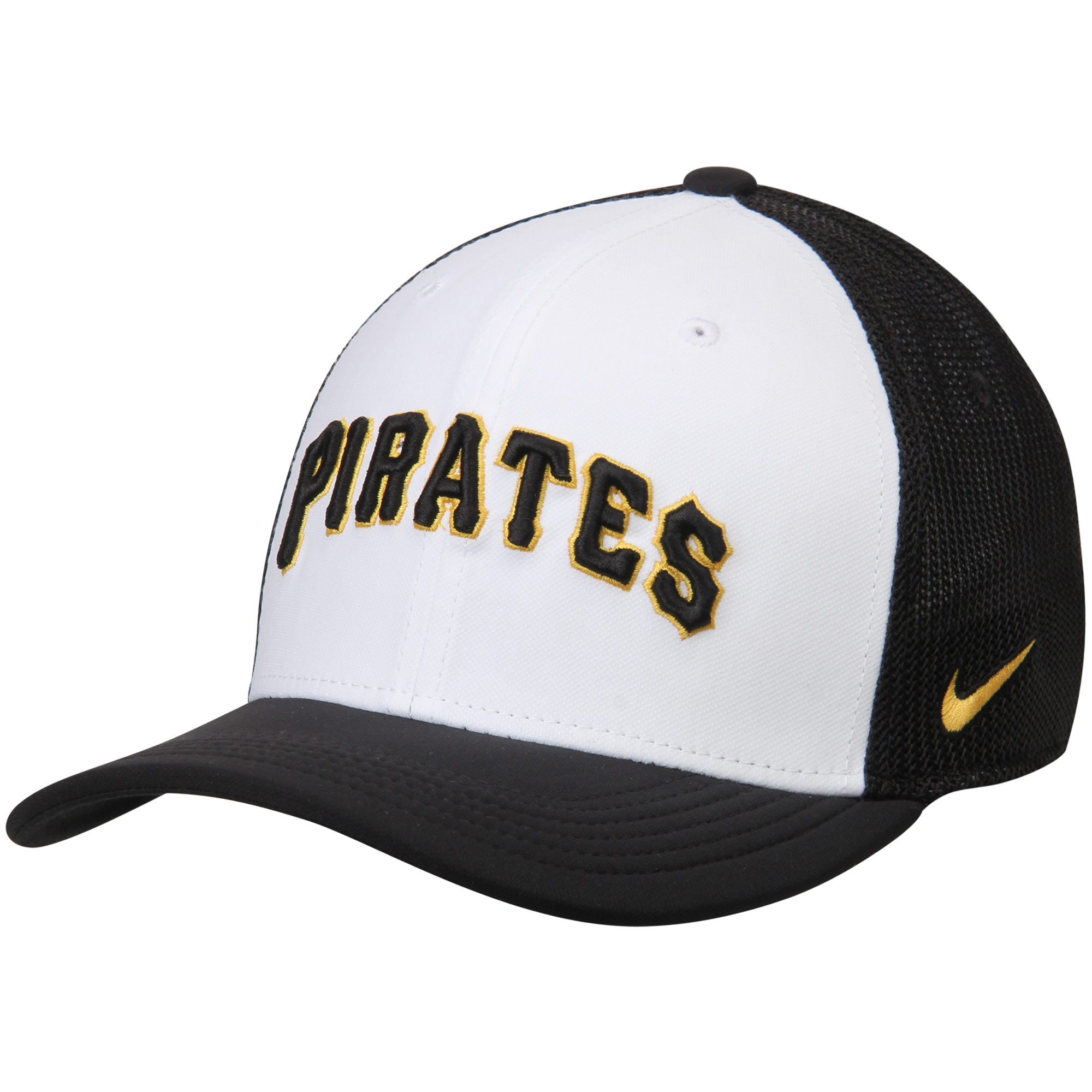 Pittsburgh Pirates Nike Vapor Performance Swoosh Flex Hat - White/Black
