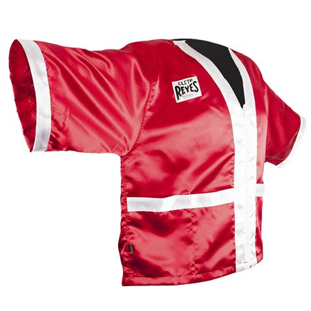 Cleto Reyes Corner Staff Satin Boxing Robe - Red/White - Boxing Robe Cheap