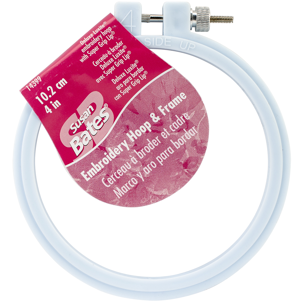 Bates Plastic Embroidery Hoop - Light Blue-Size 4""