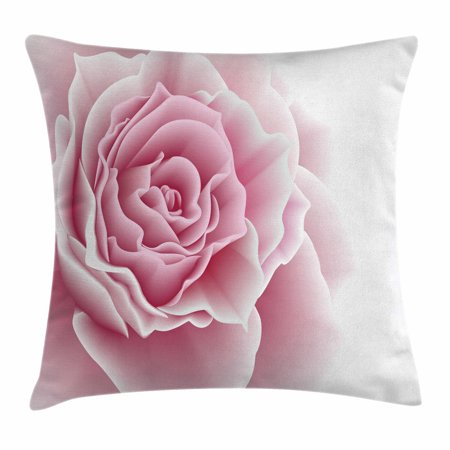 Light Pink Throw Pillow Cushion Cover, Romantic Rose Petals Beauty Bouquet Celebration Bridal Romance Wedding, Decorative Square Accent Pillow Case, 16 X 16 Inches, Light Pink White, by Ambesonne ()