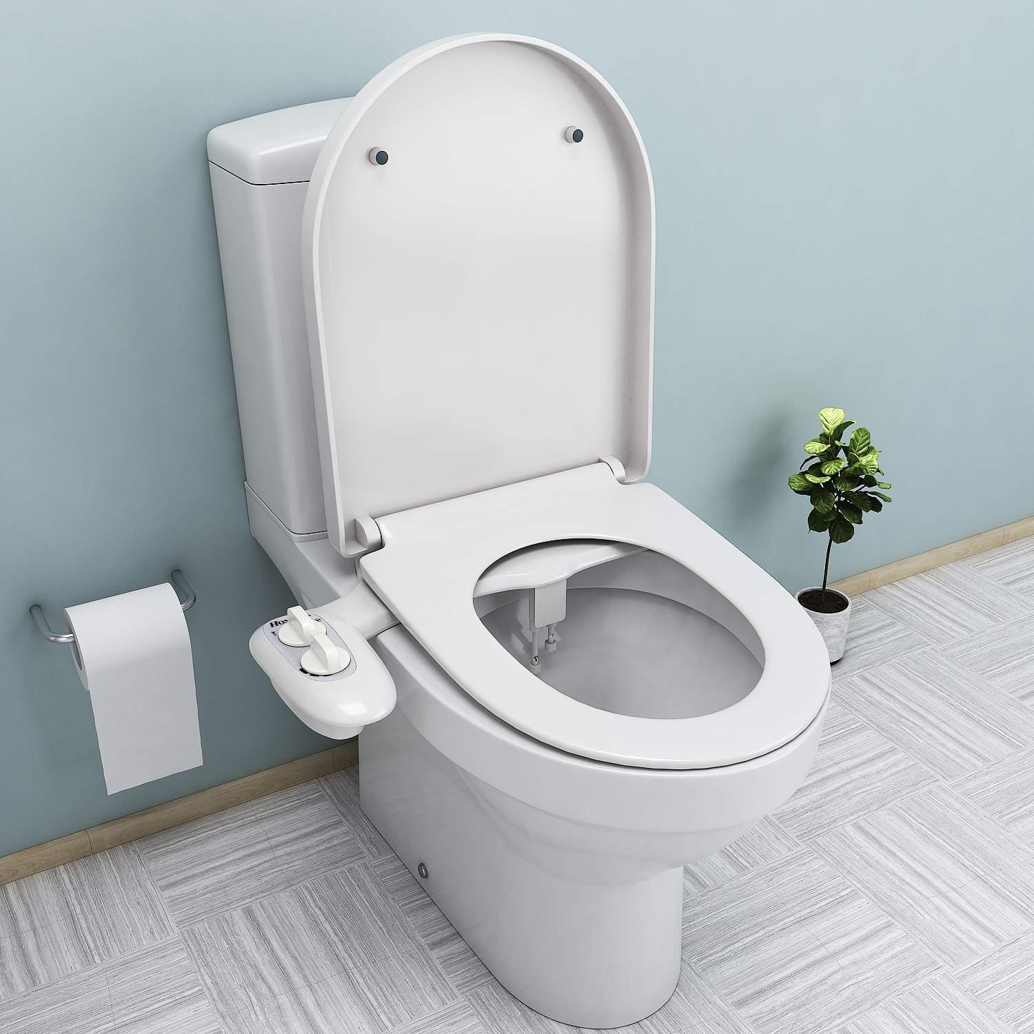 Clearance! Fresh Water Spray Non-Electric Mechanical Bidet Toilet Seat Attachment Bathroom HFON