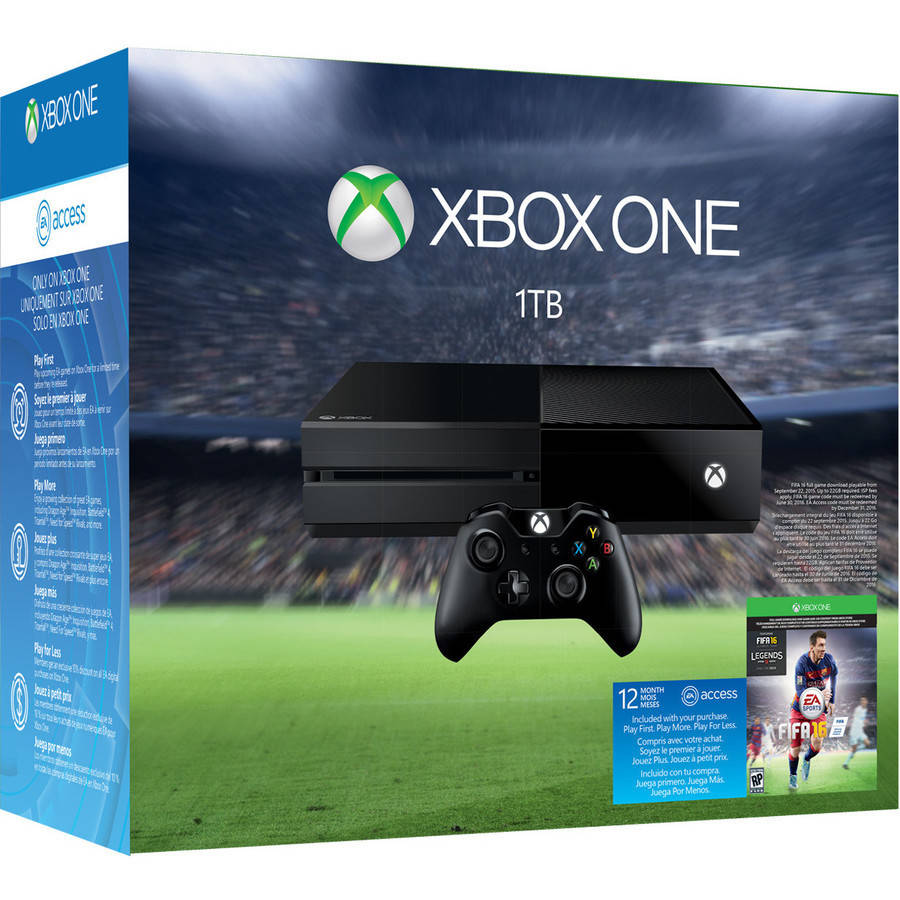 Xbox One 1 TB FIFA 16 Limited Edition Console Bundle