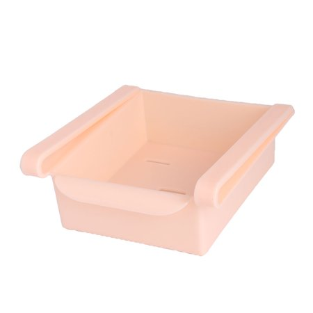 Plastic Fridge Storage Sliding Drawer Shelf Box Basket Organizer Pink - image 4 of 4