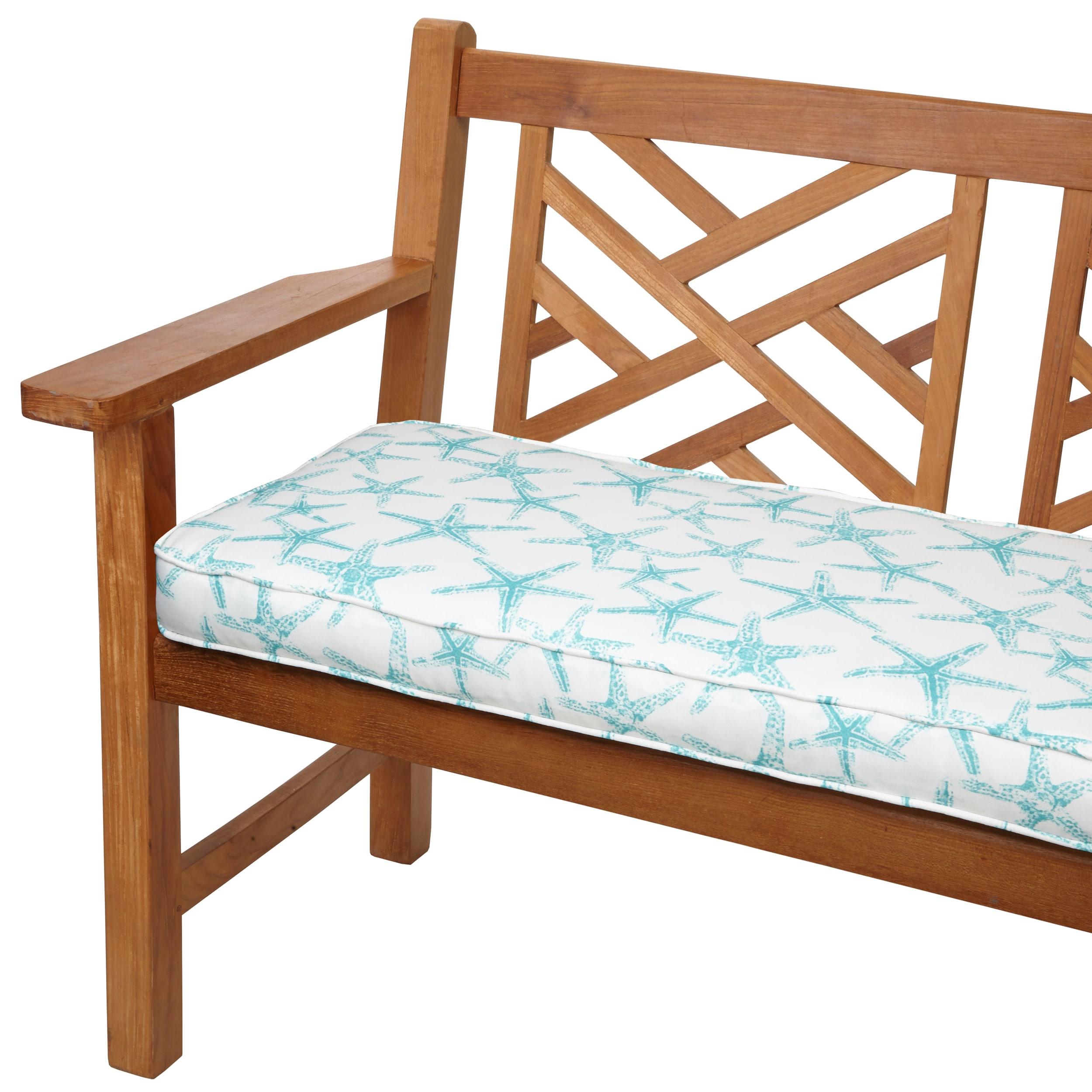 Humble and Haute Aqua Starfish 48-inch Indoor/ Outdoor Corded Bench Cushion