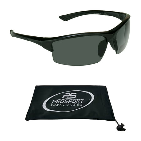 proSPORT Bifocal Sunglasses Sun Readers Tinted for Men and Women with TR90 Semi Rimless Wraparound Sport (Tinted Sunglasses For Men)